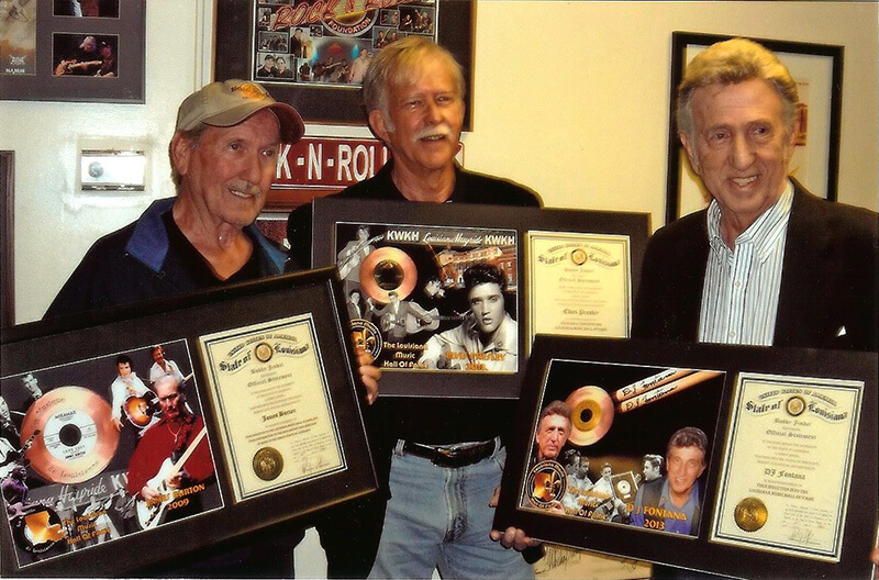 James and DJ Fontana inducted in the Louisiana Hall of Fame