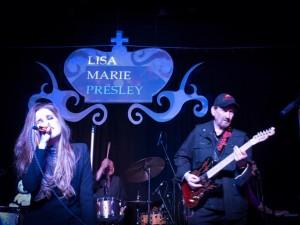 James Burton and Lisa Marie Presley